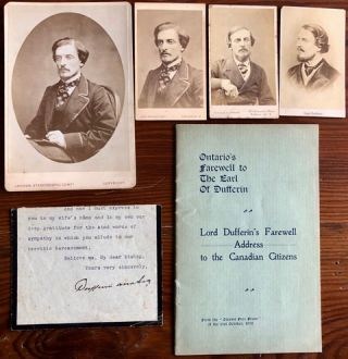 Lord Dufferin 6 ephemera collection. Lord DUFFERIN, 1st Marquess of Dufferin, Frederick...