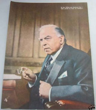 Maclean's Political Ad William Lyon MacKenzie King Portrait (printed from photo by Yousuf Karsh...