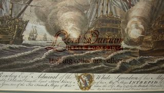 Battle of Cape Finisterre in 1747, HMS INTREPID Litho Print - 70 gun Man o' War captured by the English