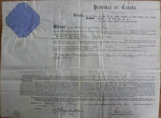 Province of Canada Land Grant to John Brill Luce of Bolton in the County of Brome (Eastern...
