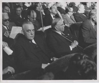 B&W Photo William Lyon Mackenzie King at the UN in San Fransico 1945. William Lyon MacKenzie KING
