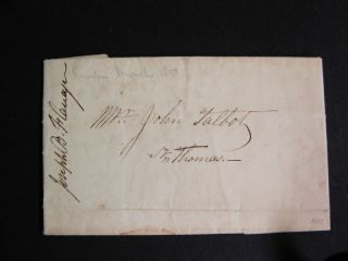 Privately-delivered Letter from London to St. Thomas (Ontario), Canada - 1837.  THOMAS