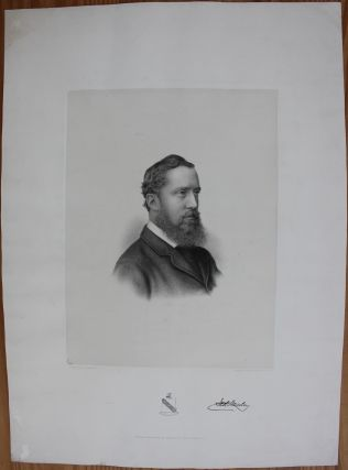 Truly rare circa 1880 early engraving of Lord Stanley. (Stanley Cup in Hockey was named after him). Sir Frederick Arthur STANLEY, 16th Earl of Derby, 1st Baron Stanley of Preston, Lord Stanley of Preston, Active, Charles William WALTON.
