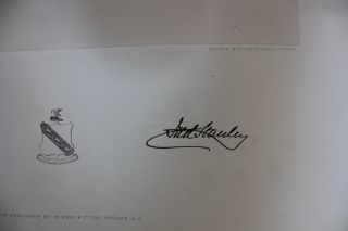 Quite rare circa 1880 early engraving of Lord Stanley.