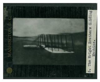Alexander Graham Bell & Casey Baldwin 11 glass plate lantern slides of early flights