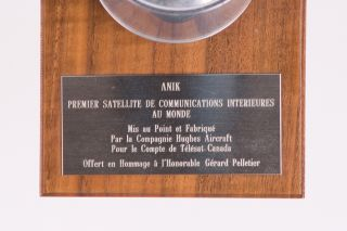 Two Models of the World's First Domestic Satellite: ANIK 1A