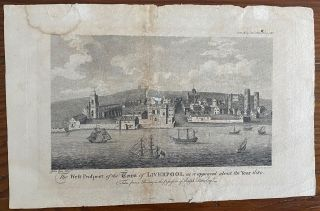West Prospect of the Town of Liverpool as it Appeared About the Year 1680 engraving. Sylvanus...