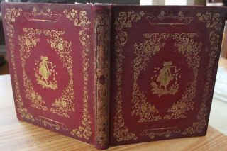 Large Elaborate Gilt Stamped Leather [Floral] Album c1850 by John C. Ricker NY. J. C.  RIKER,...