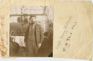 Five (5) albumen photos relating to Robert Peary on two separate trips to the Arctic