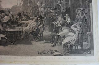 Chelsea Pensioners Reading the Gazette of the Battle of Waterloo engraving