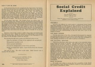 Social Credit Explained 4pp. brochure