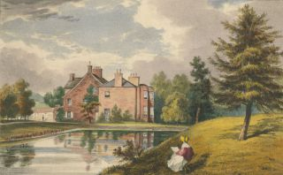 Moor House, in the W.R. of the County of York, UK - coloured c1840 engraving