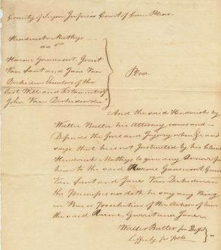 Tryon County legal will document signed twice by Walter Butler (1752-81) Loyalist