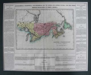 Geographical, Statistical, And Historical Map Of Upper And Lower Canada, And The Other British...