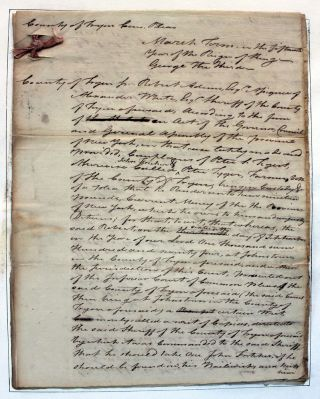 Tryon County Legal Debt Document Signed by W(alter). Butler (1752-81) Loyalist. Walter BUTLER, Robert ADAMS, Alexander WHITE, Peter S. DEYGERT.
