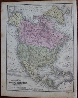 Map of North America. Samuel Augustus Jr. MITCHELL, J. H. YOUNG