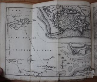The Gentleman's Magazine with original 1759 accounts and maps of the French Indian war at Quebec and Crown Point (New York).