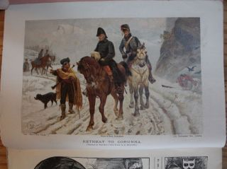(Sir John Moore) Retreat to Corunna coloured plate The Boy's Own Paper, August, Part 114,...