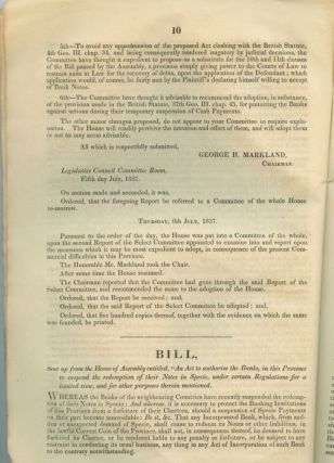 71pp Report of the select committee , Second session of the thirteenth Provincial Parliament, Legislative Council Upper Canada 1837