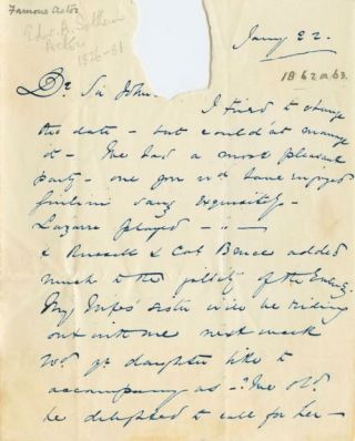 Edward Sothern handwritten Letter Signed to Sir John Heron Maxwell. Edward Askew SOTHERN.