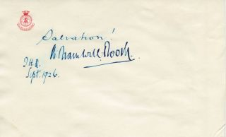 Bramwell Booth signature second General of the Salvation Army. General Bramwell BOOTH, William