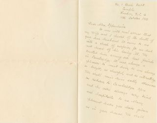 Sir James George Frazer Autograph Letter Signed (ALS) to Mrs. Oppenheim on the death of her...