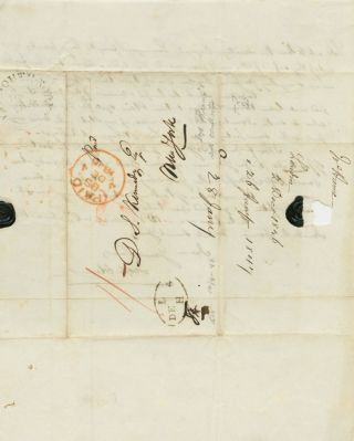 [partial] Joseph Hume 1846 Autograph Letter Signed with content relating to free trade
