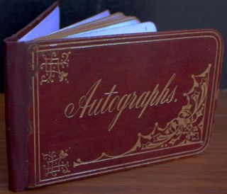 circa 1880's autograph book, about 50 pages, owned by Kitty Scott of Toronto, Ontario. Kitty...
