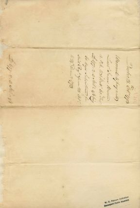 Guy Carleton, Lord Dorchester, Document Signed giving an account of money that is owed from October 25th to December 14th 1793.