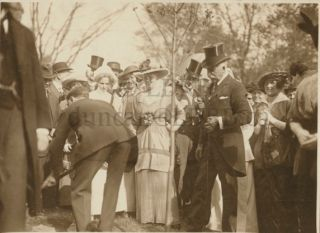 Photo of Sir William Mulock and others at a ceremony
