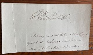 Document section with signature of William IV. William IV of the United Kingdom