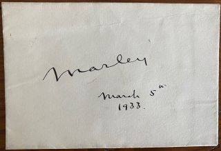 Signature on envelope of Dudley Leigh Aman, 1st Baron Marley. Dudley Leigh AMAN, Lord Marley
