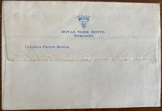 Signature on envelope of Dudley Leigh Aman, 1st Baron Marley