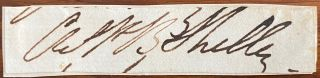 Cut signature of C.P.B. (Charles Percy Bysshe) Shelley. Charles, sshe, C. P. B. SHELLEY