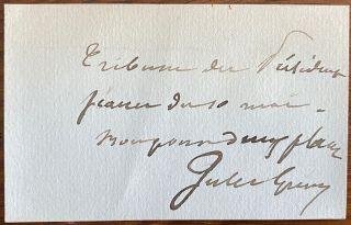 Signature of François Paul Jules Grévy on a small sentiment card. François Paul Jules...
