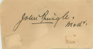 Cut signatures of John Pringle. John PRINGLE