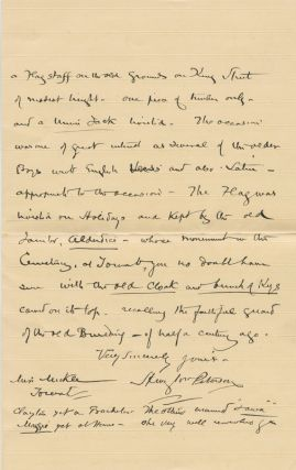 Autographed Signed Letter (ASL) of Henry W. Peterson to Sara Mickle.