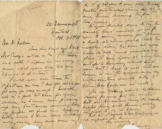 Three Autographed Letters Signed (ALS) relating to John Lewis Neilson. Colonel John Lewis Hurbert...