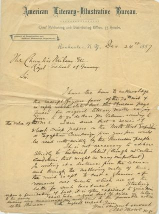 Three Autographed Letters Signed (ALS) relating to John Lewis Neilson