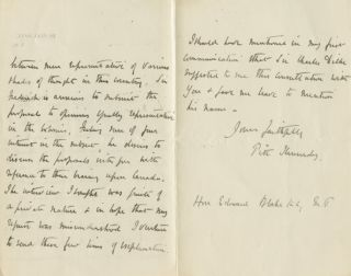 Two autographed Letters Signed (ALS) from Pitt Kennedy, assistant to Sir Frederick Pollock