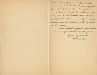 Autographed Letter Signed (ALS) of William Saunders to Ross