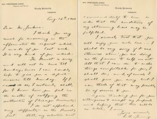 Two Autographed Signed Letters (ASL) of Archibald Hope Young. Archibald Hope YOUNG