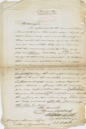 Autographed Signed Letter (ASL) of George Moore. George MOORE, William SMITH