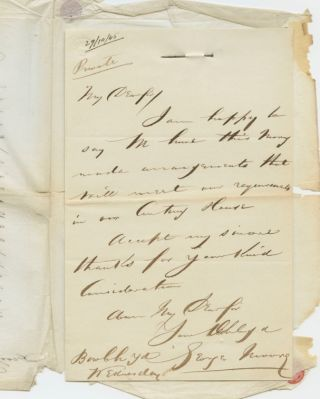 Autographed Signed Letter (ASL) of George Moore