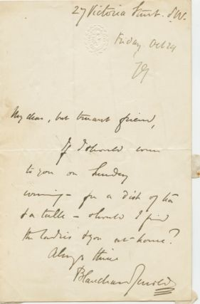 Autographed Signed Letter (ASL) of William Blanchard Jerrold. William Blanchard JERROLD