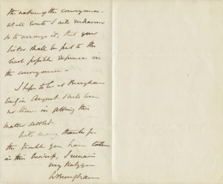 Autographed Signed Letter (ASL) of William Brougham