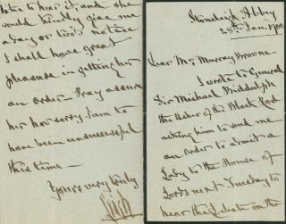 Autographed Signed Letter (ASL) of William Leigh, 2nd Baron Leigh of Stoneleigh Abbey. William...