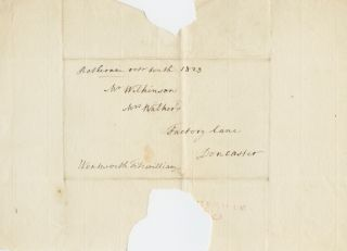 Signed envelope front of William Wentworth-Fitzwilliam, 4th Earl Fitzwilliam. William...