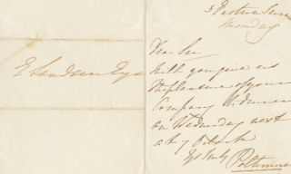 Autographed Signed Letter (ASL) of Augustus Frederick George Warwick Bampfylde, 2nd Baron...