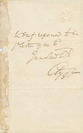 Autographed Signed Letter (ASL) of George Campbell, 8th Duke of ARGYLL